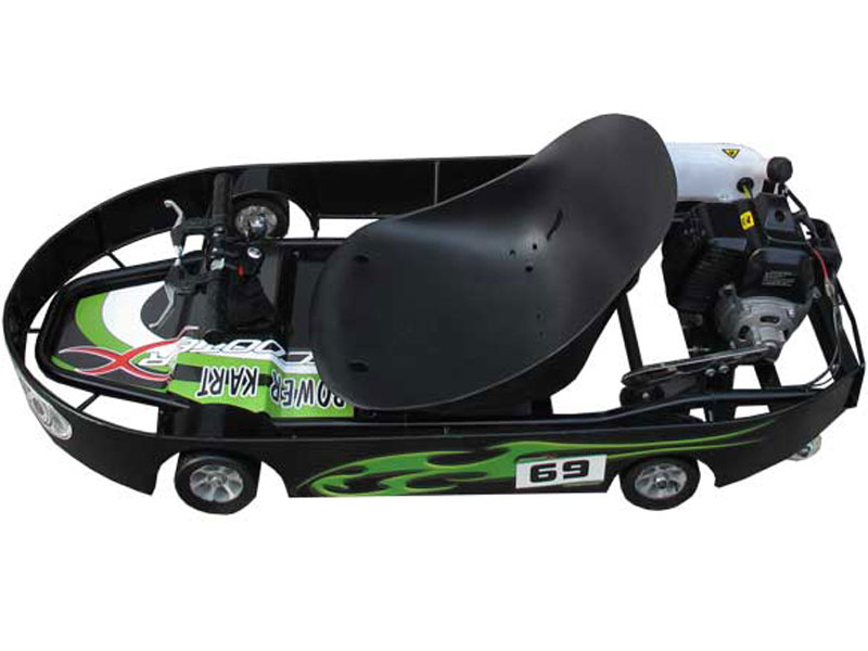 Power Kart 50 in Race Trim - Black/Green or Black/Silver