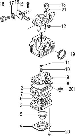 Carburetor Parts, 21cc - 23cc