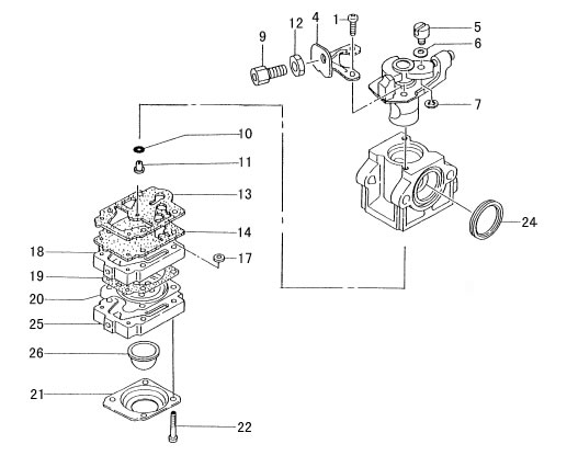 Carburetor Parts, 40cc