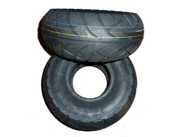 Tire, 10 inch - High Grip Red Stripe Race for Cornering